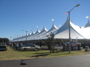 beautiful cars under the tent